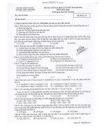 ĐỀ THI THỬ ĐẠI HỌC LẦN THỨ III NĂM 2013 MÔN HÓA HỌC - TRƯỜNG ĐHSP HÀ NỘI - MÃ ĐỀ THI 234 pdf