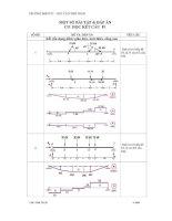 Một số bài tập và đáp án cơ học kết cấu F1