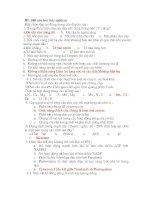 100 câu hỏi trắc nghiệm sinh học ( có đáp án)