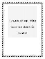 Tư Khóa lên top 1 bằng thuộc tính không cần backlink pdf