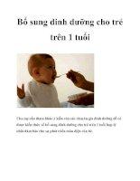 Bổ sung dinh dưỡng cho trẻ trên 1 tuổi potx