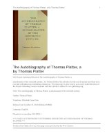 The Autobiography of Thomas Platter, a schoolmaster of the sixteenth century pptx