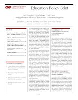 Enriching the High School Curriculum Through Postsecondary Credit-Based Transition Programs potx