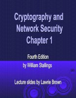 Cryptography and Network Security Chapter 1 doc