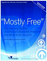 """Mostly Free"" The Startling Decline of America's Economic Freedom and What to Do About It pdf"