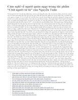 """Cảm nghĩ về người quản ngục trong tác phẩm """"Chữ người tử tù"""" của Nguyễn Tuân"""