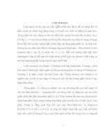 SỰ HỘI TỤ HẦU CHẮC CHẮN CỦA TỔNG CÓ TRỌNG SỐ CỦA CÁC BIẾN NGẪU NHIÊN ĐỘC LẬP      LUẬN VĂN THẠC SỸ KHOA HỌC TOÁN HỌC