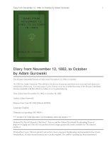 Diary from November 12, 1862 pptx
