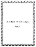Indonesia và dấu ấn nghệ thuật ppt