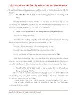 ĐỀ CƯƠNG ÔN TẬP MÔN TƯ TƯỞNG HỒ CHÍ MINH ppt