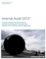 Internal Audit 2012*: A study examining the future of internal auditing and the potential decline of a controls-centric approach docx