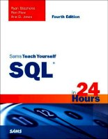 Sams Teach Yourself SQL in 24 Hours, Fourth Edition docx