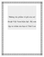 Những tác phẩm vô giá của mỹ thuật Việt Nam hiện đại - Bộ sưu tập tư nhân của họa sĩ Thái Lan pdf