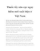 Thuốc tẩy não cực nguy hiểm mới xuất hiện ở Việt Nam pdf