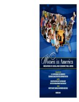 WOMEN IN AMERICA Indicators of Social and Economic Well-Being potx