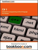 C#1 introduction to programming and the c language potx