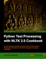 Python Text Processing with NLTK 2.0 Cookbook docx