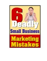 Six Deadly Small Business Marketing Mistakes by David Frey pdf