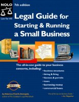 Legal Guide for Starting & Running a Small Business ppt
