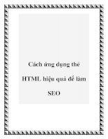 Cách ứng dụng thẻ HTML hiệu quả để làm SEO ppt