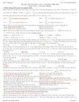 ĐỀ THI THỬ VẬT LÝ - LUYỆN THI ĐẠI HỌC SỐ  1  - 2009 - 2010