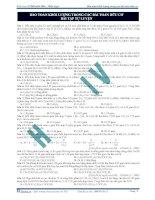 Bảo toàn khối lượng trong các bài toán hữu cơ bài tập tự luyện pot