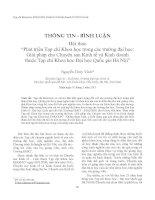 """Báo cáo """"Phát triển Tạp chí Khoa học trong các trường đại học: Giải pháp cho Chuyên san Kinh tế và Kinh doanh thuộc Tạp chí Khoa học Đại học Quốc gia Hà Nội"""" docx"""
