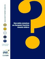 How safety conscious are European Countries towards children ? pptx
