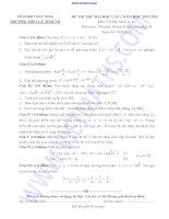 ĐỀ THI THỬ ĐẠI HỌC LẦN I NĂM 2013 môn toán TRƯỜNG THPT LÝ THÁI TỔ doc
