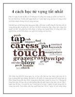 4 cách học từ vựng tốt nhất pptx