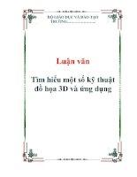 Luận văn: Tìm hiểu một số kỹ thuật đồ họa 3D và ứng dụng potx