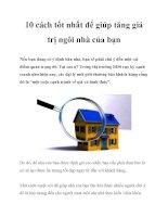 10 cách tốt nhất để giúp tăng giá trị ngôi nhà của bạn doc