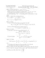 Đề thi và đáp án thi chọn học sinh giỏi môn toán Trung học phổ thông Hậu lộc III tỉnh Thanh Hóa