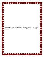 Hai bí quyết thành công của Google. pptx