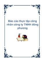 Báo cáo thực tập công nhân công ty TNHH đông phương..... doc