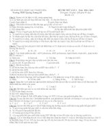 ĐỀ THI THỬ ĐẠI HỌC MÔN SINH ĐỀ 12 potx