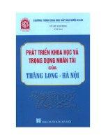 Phát triển khoa học và trọng dụng nhân tài của Thăng Long - Hà Nội pot