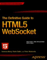 The Definitive Guide to HTML5 WebSocket potx