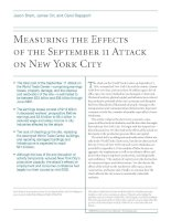 Measuring the Effects of the September 11 Attack on New York City potx