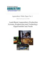 Land-Based Aquaculture Production Systems, Engineering and Technology: Opportunities and Needs doc
