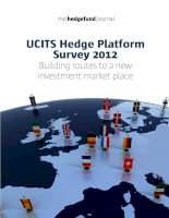 UCITS Hedge Platform Survey 2012: Building routes to a new investment market place pdf