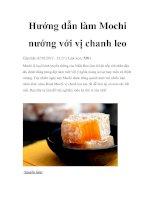 Hướng dẫn làm Mochi nướng với vị chanh leo potx