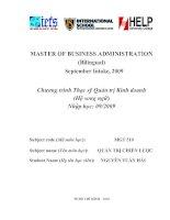 """Luận văn:""""phân tích, đánh giá và đề xuất chiến lược kinh doanh tại Công ty Xây dựng và Kinh doanh nhà Phú Nhuận giai đoạn 2011 - 2025 pptx"""