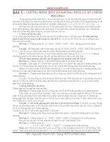 Bài 1 : CHỨNG MINH MỘT SỐ KHÔNG PHẢI LÀ SỐ CHÍNH PHƯƠNG pot