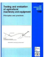 testing and evaluation of agricultural machinery and equipment pot