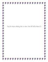 Tuyển chọn những bài ca dao chủ đề báo đáp công ơn cha mẹ doc
