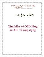 LUẬN VĂN: Tìm hiểu về O3D Plugin API và ứng dụng pptx