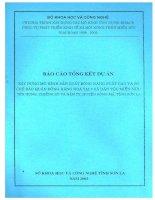 Báo cáo tổng kết dự án: Xây dựng Mô hình sản xuất bông năng suất cao và sơ chế bảo quản bông hàng hóa tại 3 xã dân tộc miền núi: Yên Hưng, Chiềng Sơ; Nậm Tỵ, huyện Sông mã, tỉnh Sơn La potx