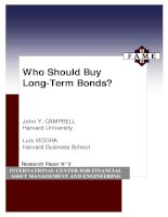Who Should Buy Long-Term Bonds? - INTERNATIONAL CENTER FOR FINANCIAL ASSET MANAGEMENT AND ENGINEERING pptx