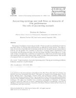 Accounting earnings and cash flows as measures of firm performance The role of accounting accruals doc